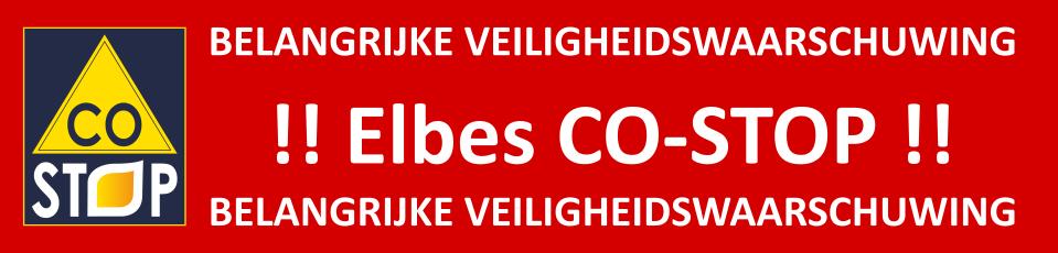 Belangrijke veiligheidswaarschuwing Elbes CO-STOP