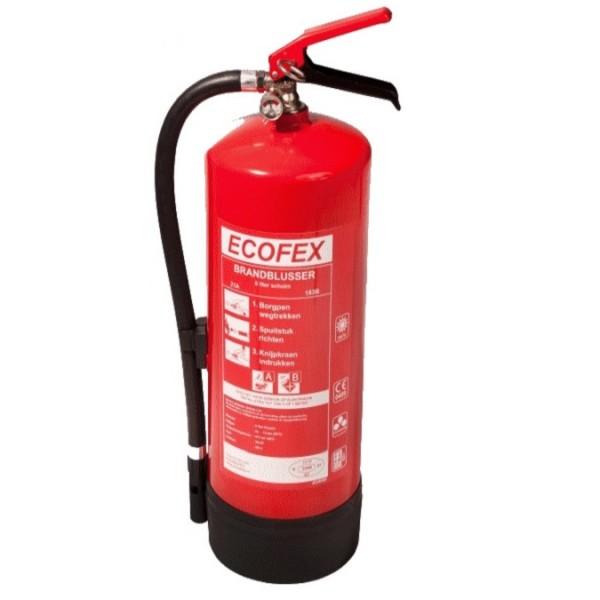 Ecofex schuimblusser 6 liter met BENOR keurmerk
